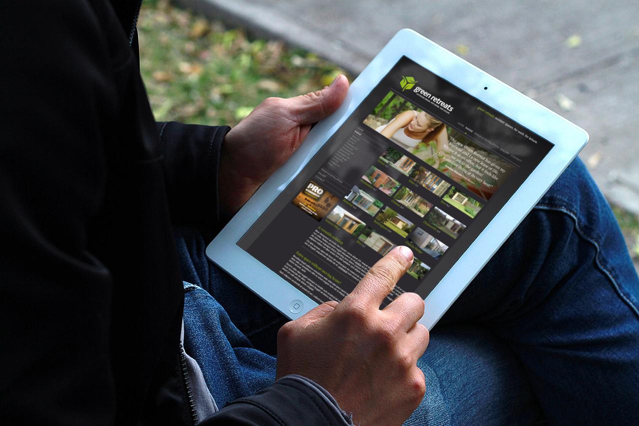 New Logo Design - Green Retreats web