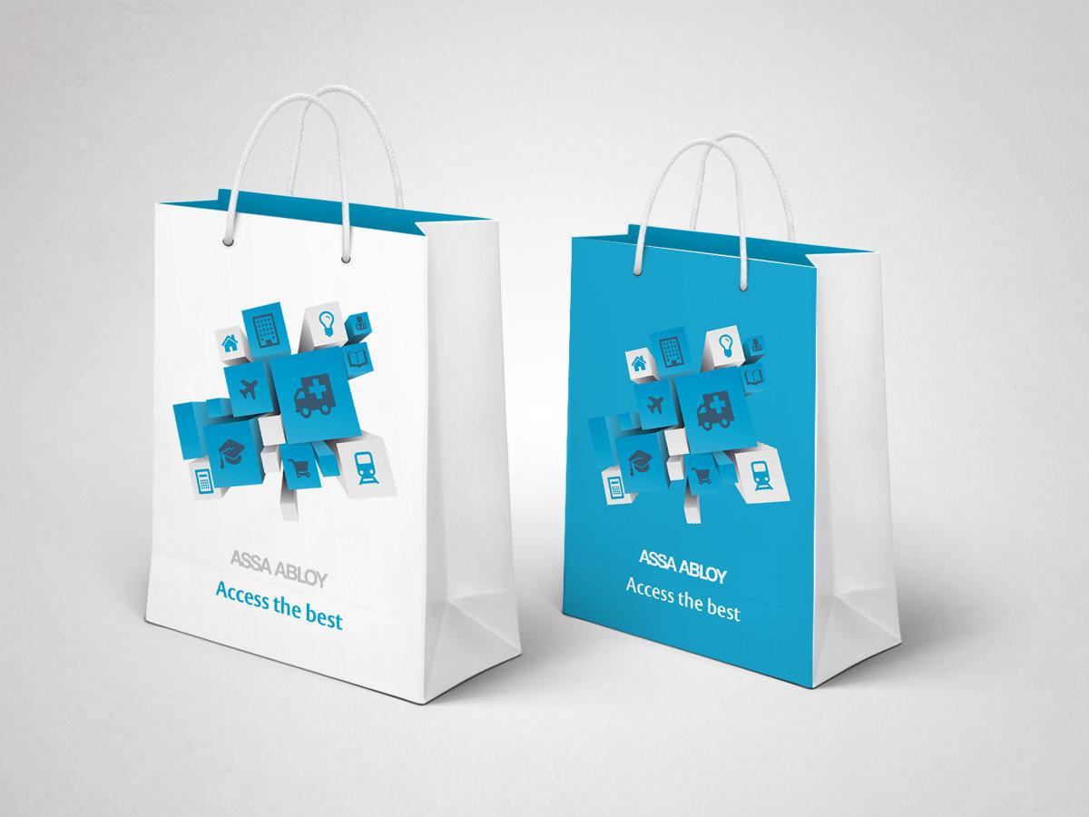 Assa Abloy IFSEC Exhibition Design - Carrier Bags