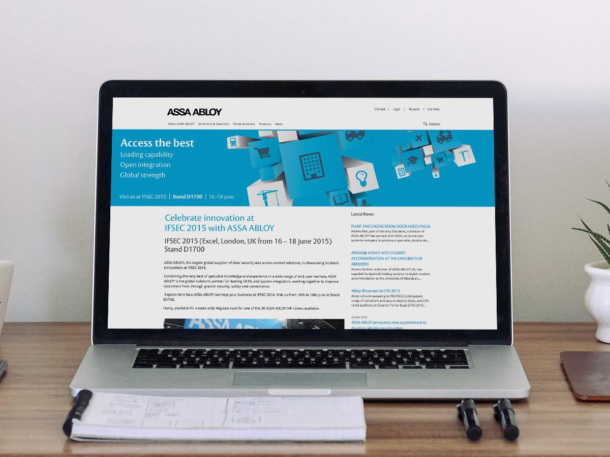 Assa Abloy IFSEC Exhibition Design - Web page