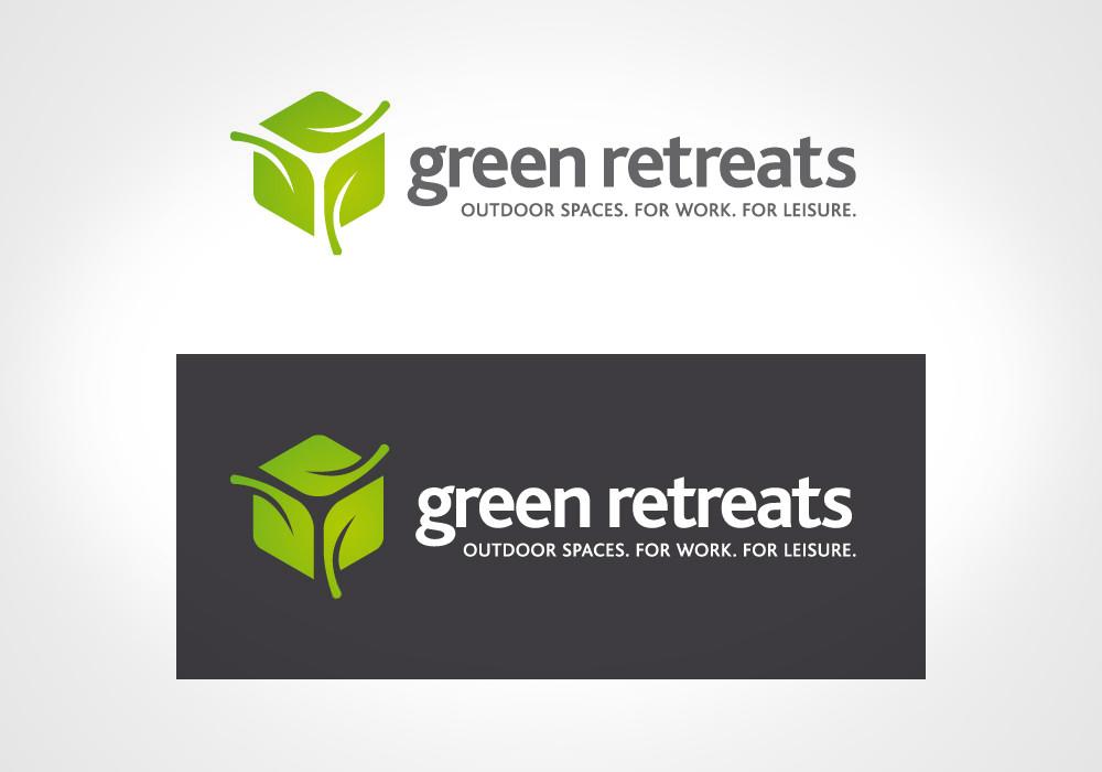 New Logo Design - Green Retreats reversed