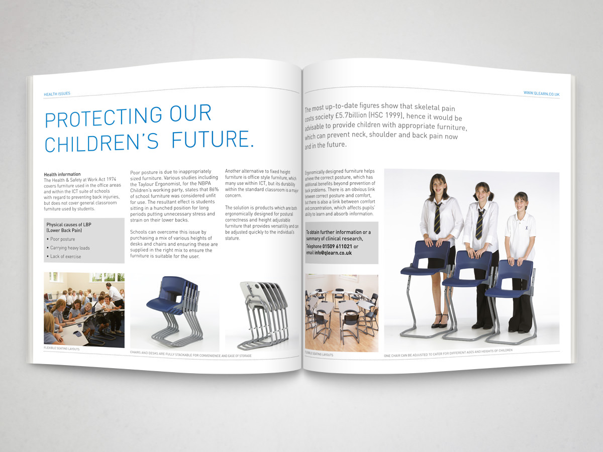 Education Product Brochure spread 1