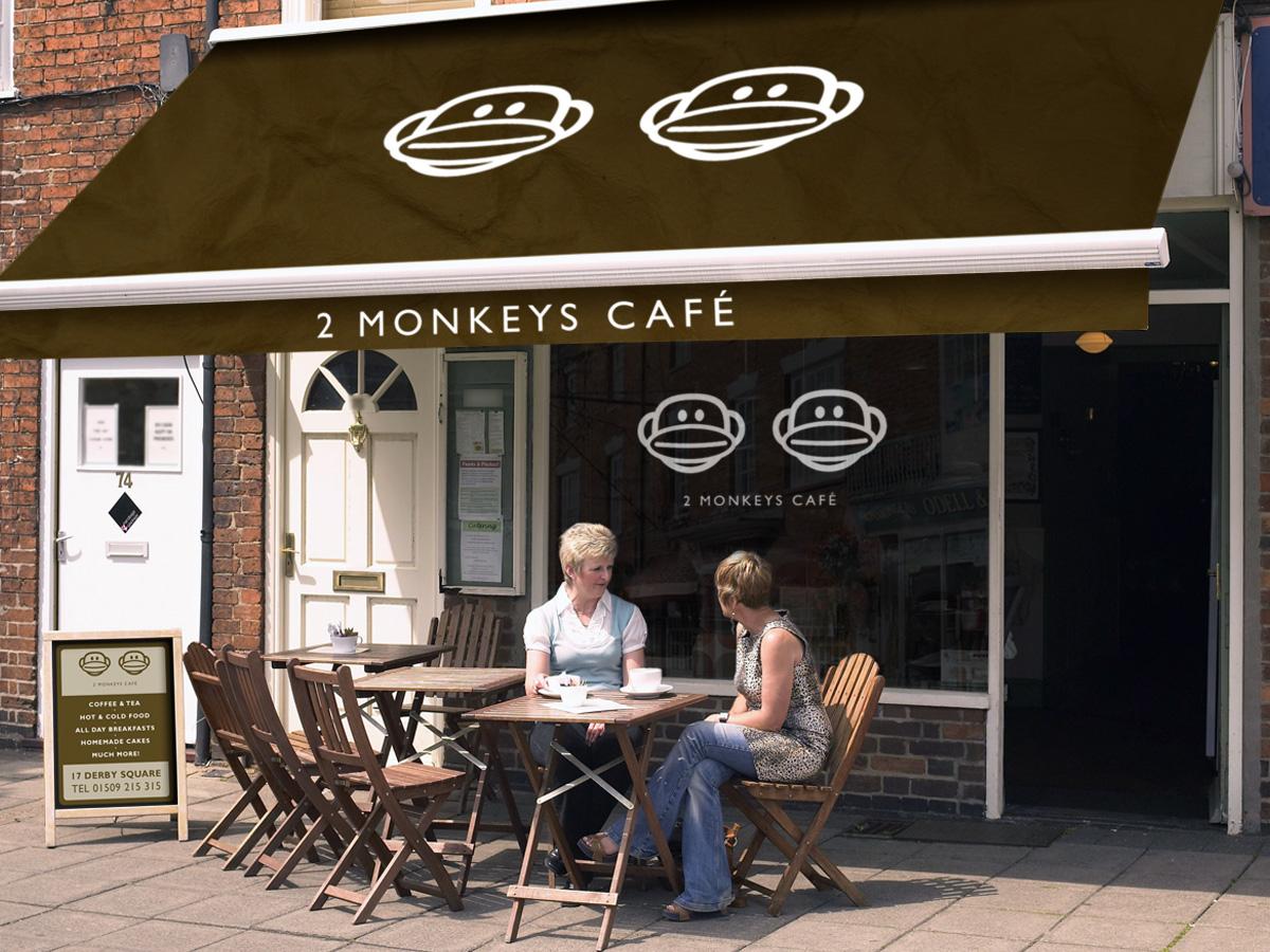 Cafe Logo 2 Monkeys Cafe Facia