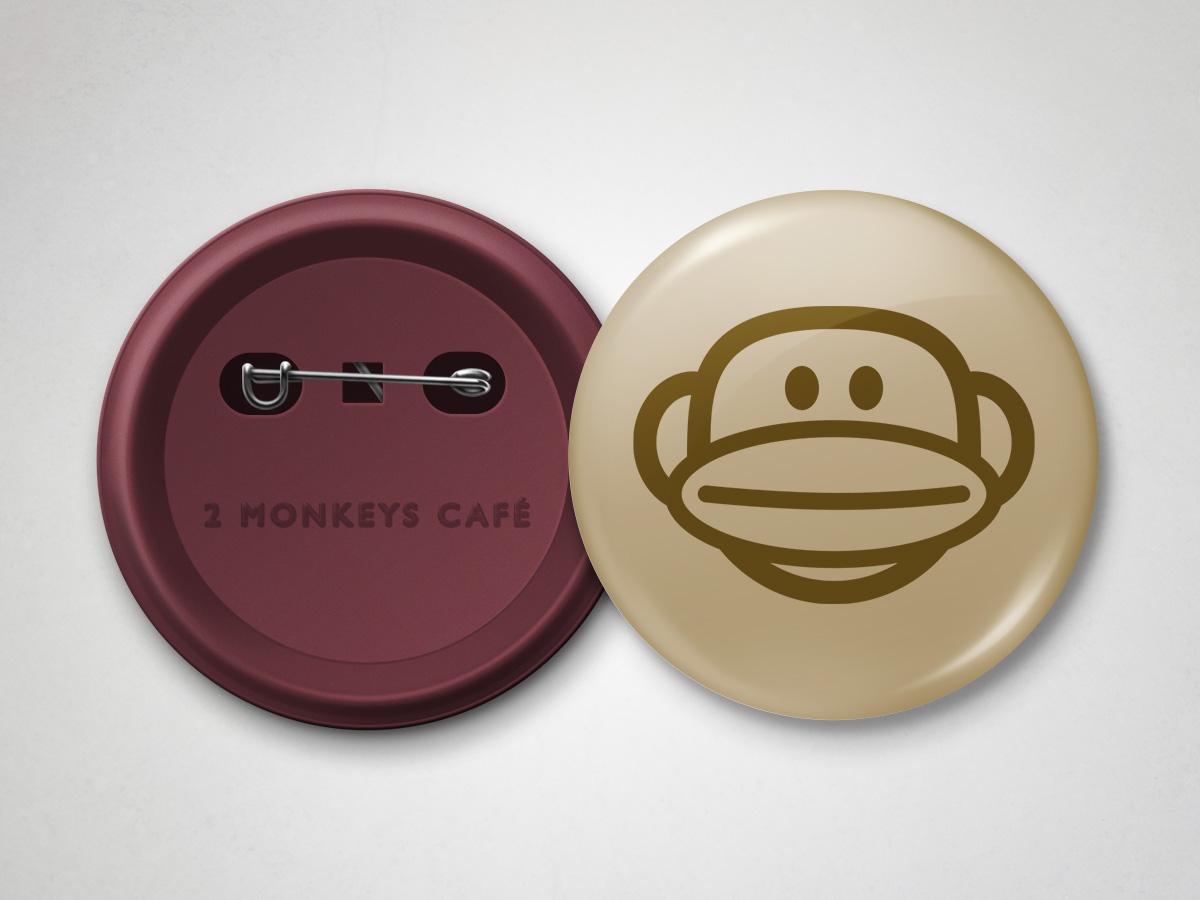 Cafe Logo 2 Monkeys Cafe Badges