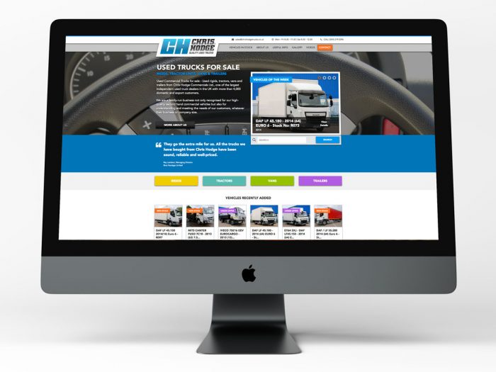 Chris Hodge Truck Website Onscreen