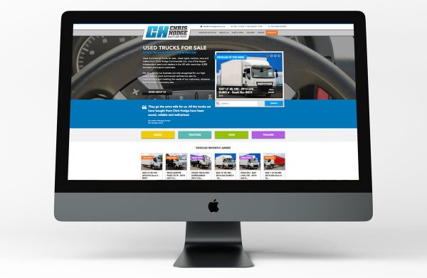 Chris Hodge Truck Website iMac