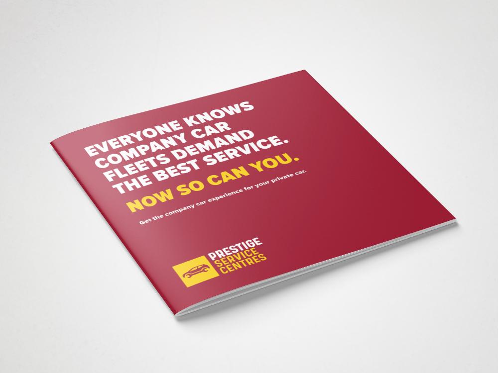 Prestige Service Centres Branding Car Servicing Leaflet Flyer