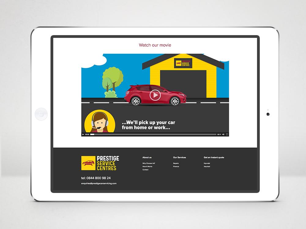 Prestige Service Centres Branding Car Servicing Website Movie